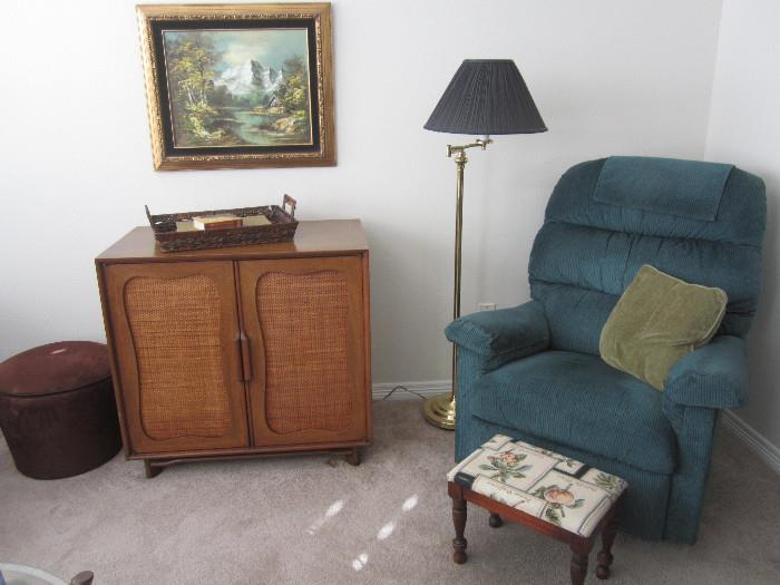 Nice cabinet and recliner