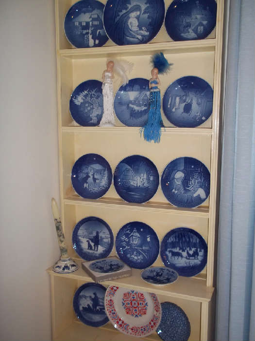 JUST ONE SHELF FULL OF B&G COLLECTIBLE PLATES