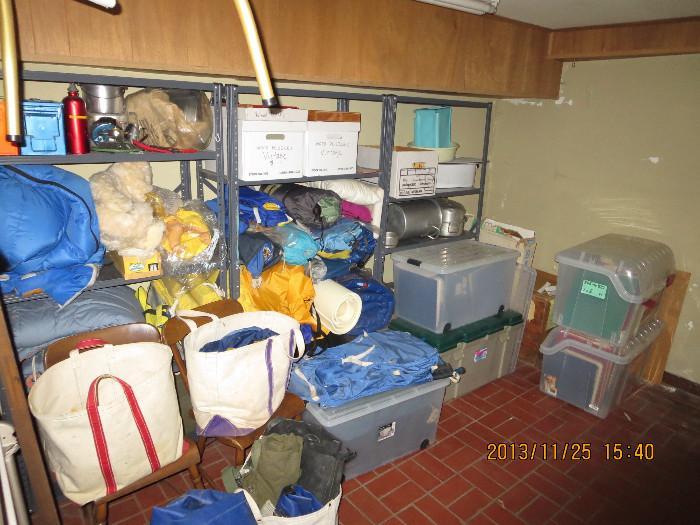 Lots of vintage REI camping gear