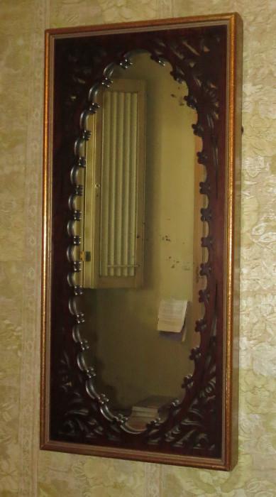 Pair of Antique English fret work mirrors