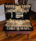 Gold embellished Flatware in box unused