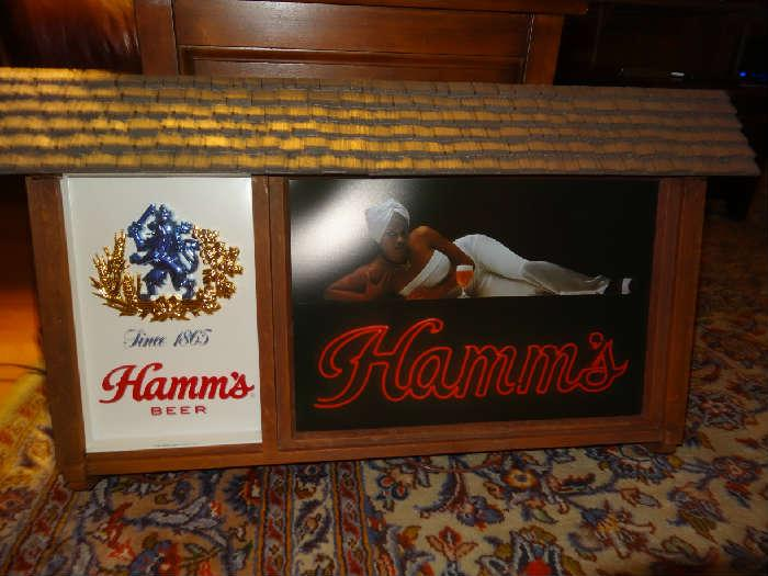 Rare vintage Hamm's beer sign! (Not from Sid Hartman)