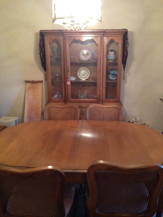 another view of the french provencial dining set