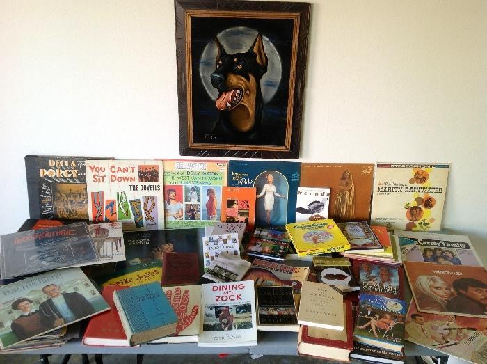 Vintage Records, hundreds of books and Doberman Velvet