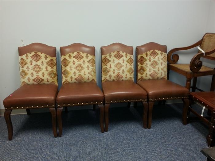 """set of 5 very neat chairs with """"drury"""" fabric"""