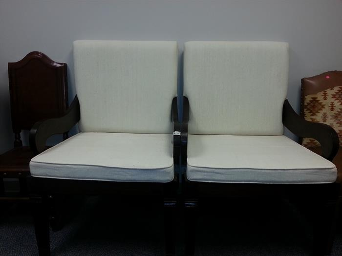 unusual pair of very oversized chairs