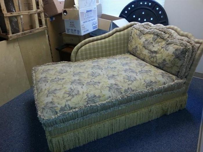 Beautifully upholstered chaise lounge