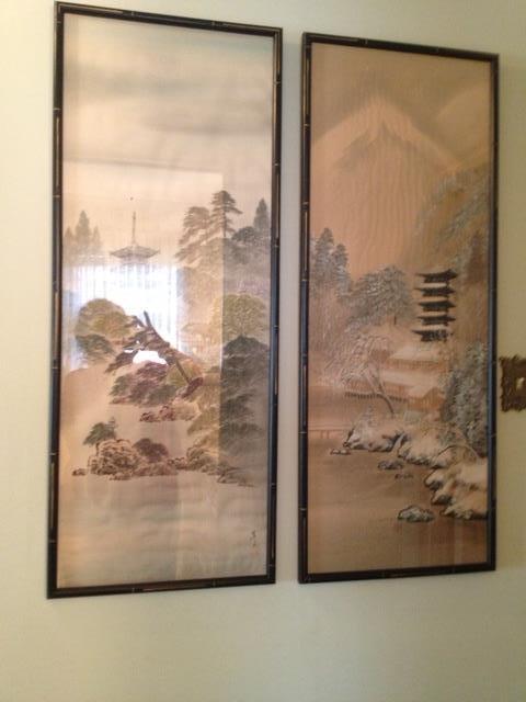 pair of asian screens