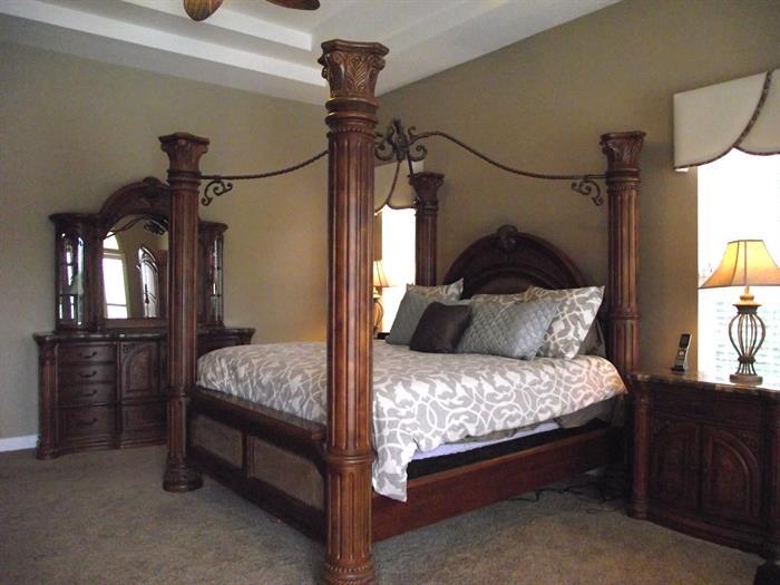 Michael Amini (AICO) King bedroom suite.