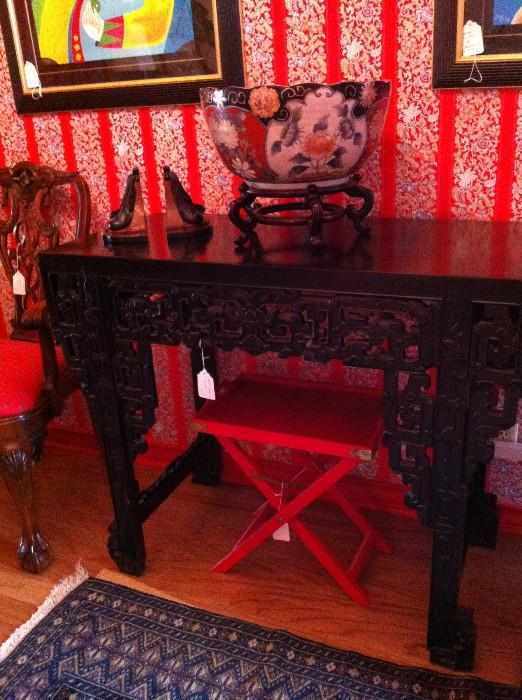 ornate Asian table