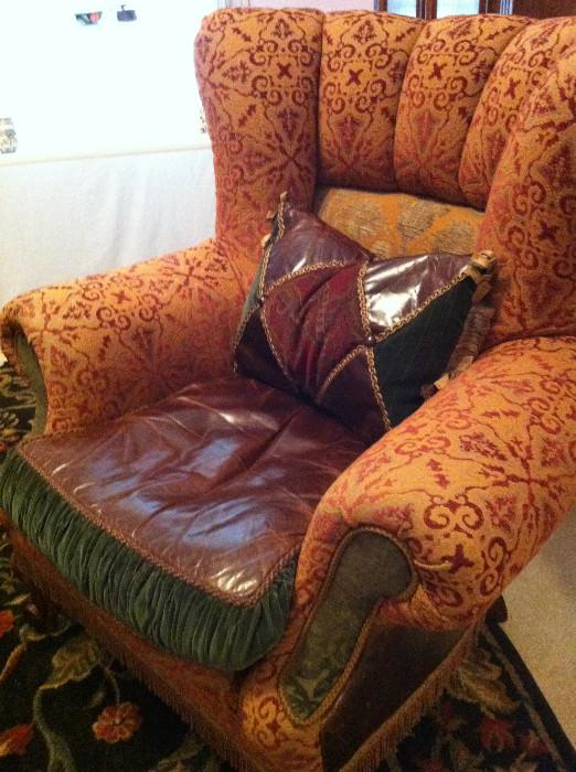 1 of 2 over-stuffed chairs/ 1 ottoman  (matches the  sofa)