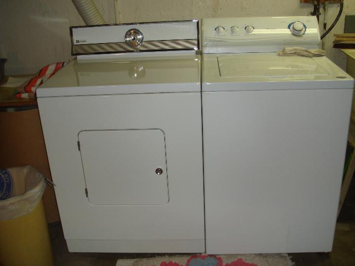 almost brand new washing machine and an older electric dryer