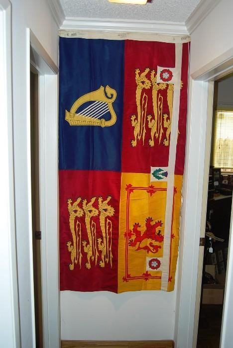 THE ROYAL STANDARD OF PRINCESS MARGARET - WHERE EVER SHE RESIDED, THIS FLAG FLEW TO ALERT ALL THAT SHE WAS IN RESIDENCE