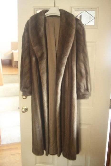 Bill Blass Mink Fur Coat (Autumn Haze) - size large 14-16.  In excellent condition.  It was purchased for $4,000 - we're asking much, much less OBO.