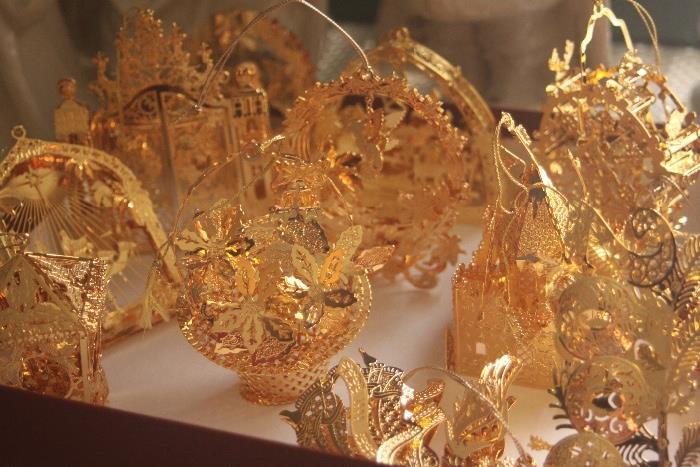 Danbury Mint gold-plated ornaments