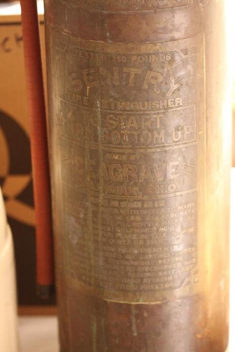 Old fire extinguisher.