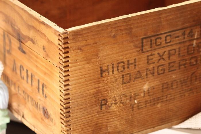 old dynamite box
