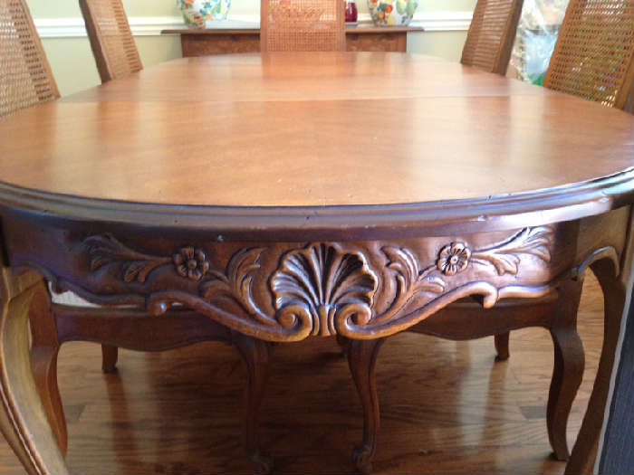 another view of the french country dining table