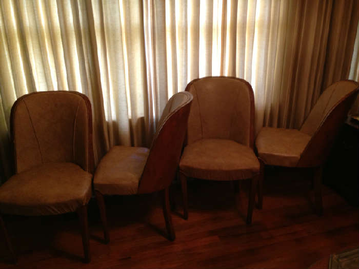 beautiful barrell backed Italian midcentury chairs, set of four