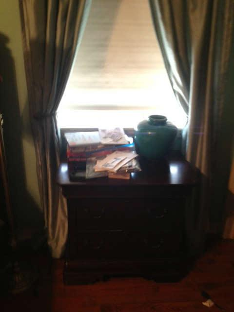 BEDSIDE TABLE. PART OF A BROYHILL BEDRROOM SUITE
