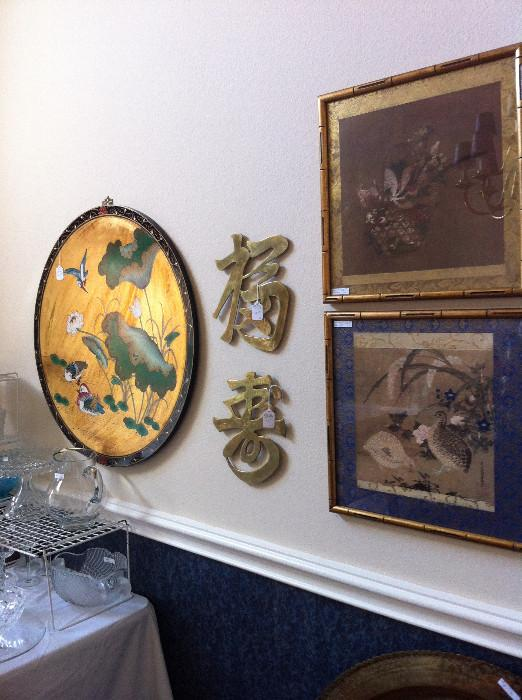 Some of the many Asian decorative items