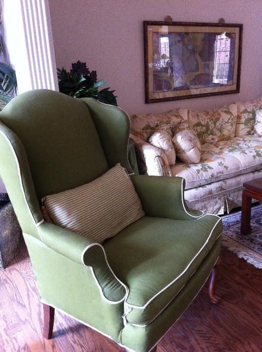 Green occasional chair