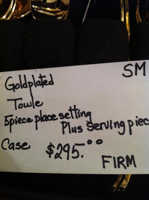 Gold Towle flatware