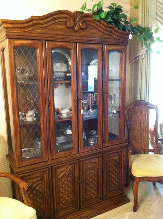 China cabinet  (has matching dining table & chairs)