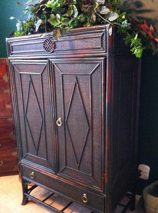 Greenish/brown  armoire/custom-made arrangement