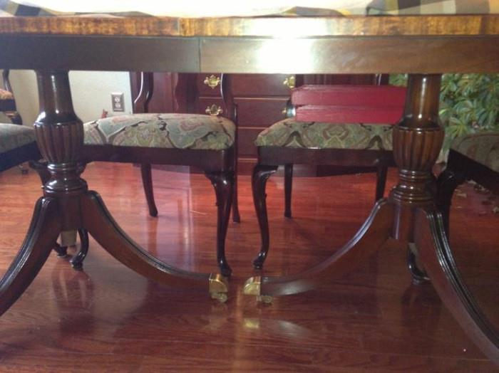 Beautiful legs of the dining table