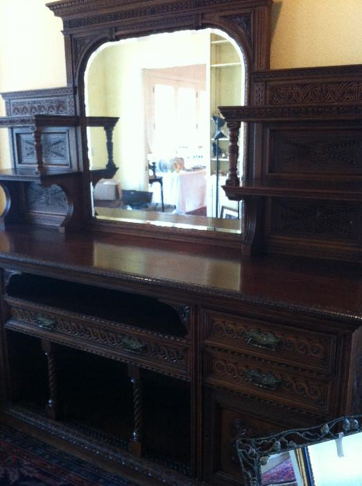 Outstanding English antique sideboard