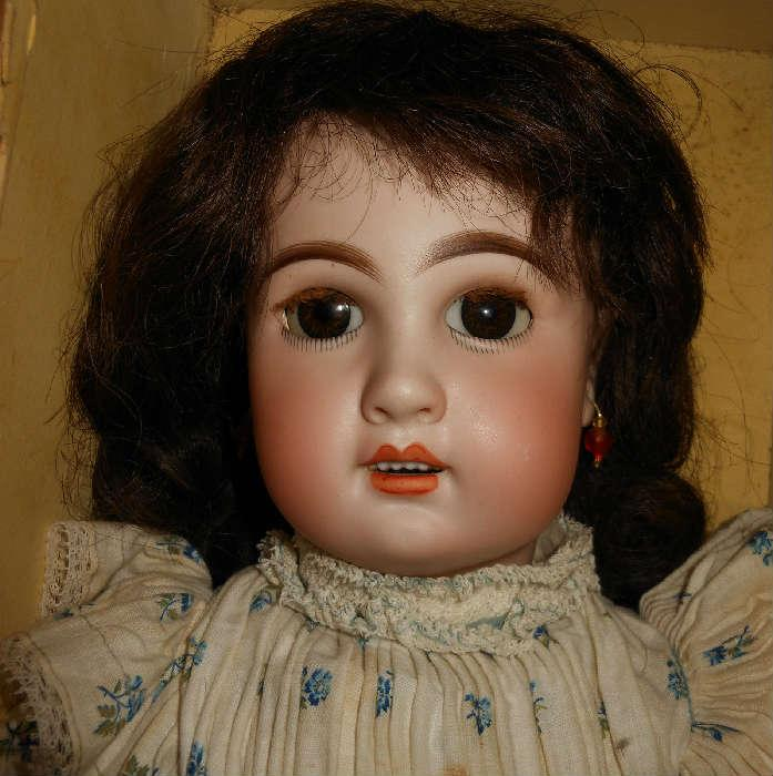 Bebe Jumeau c.1880s with Original Clothes, in Original Box in Lovely Condition