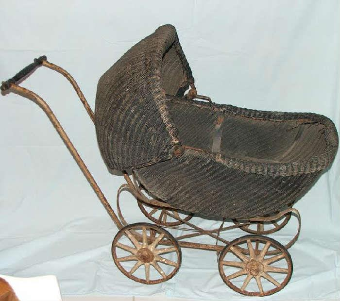 One of many Antique Doll Prams
