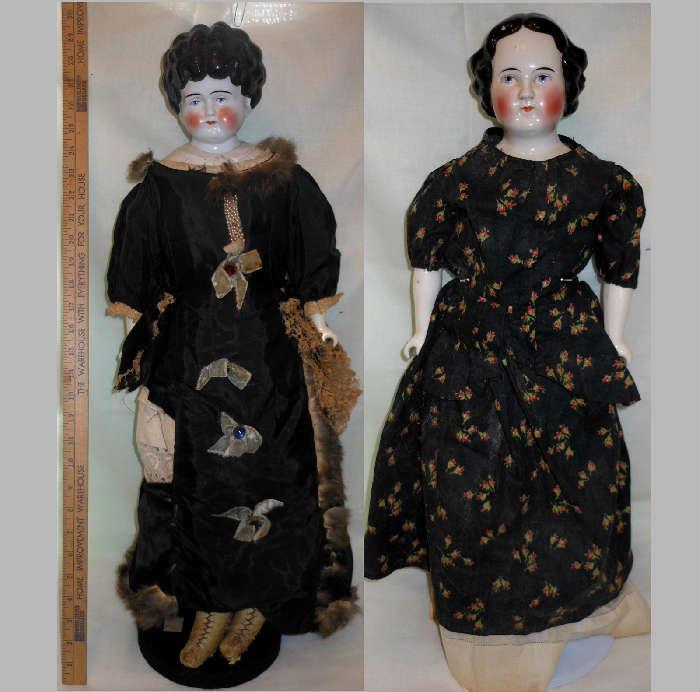 Very Tall Antique China Head Dolls
