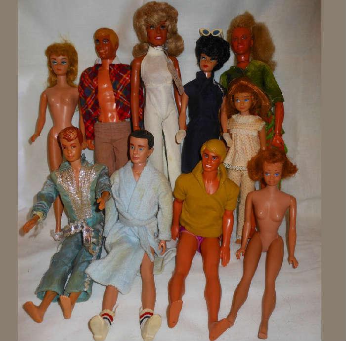 Sample of the Huge Selection of Barbie Dolls and Celebrity Dolls