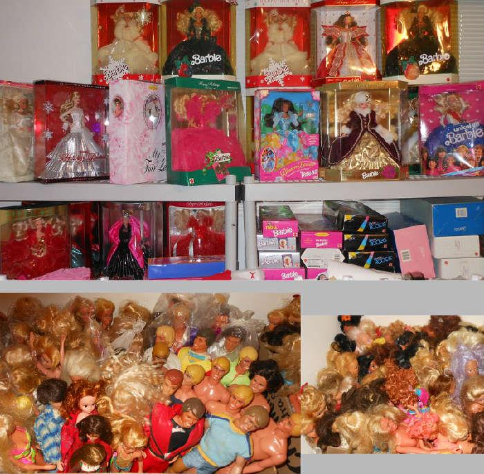 Small Sample of the Huge Selection of Barbie Dolls, Many MIB