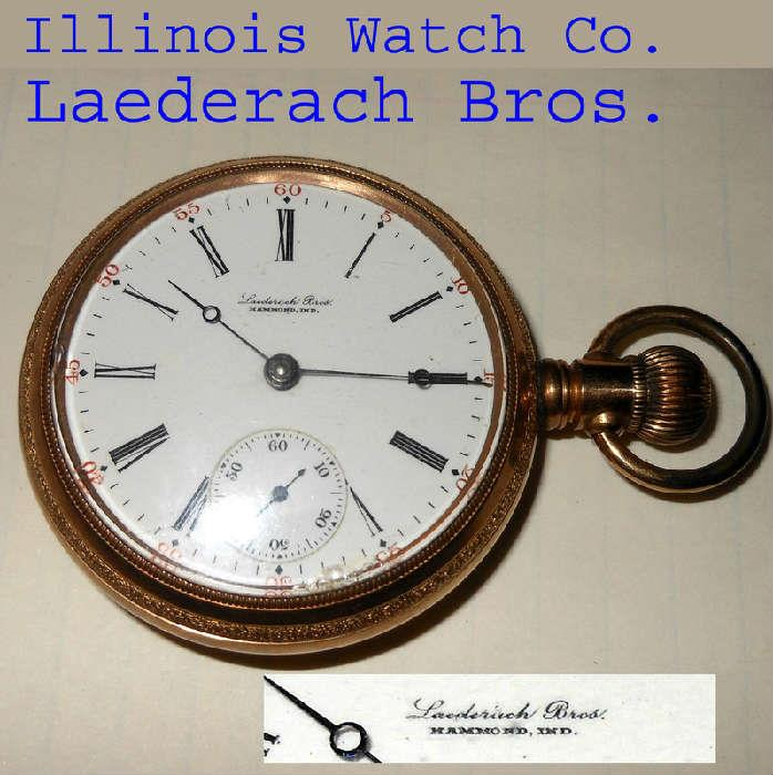 Illinois Watch Company Huge Pocket Watch in Running Order