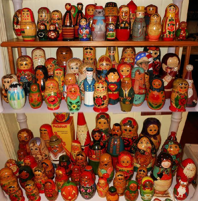 Huge Selection of Matryoshka Dolls