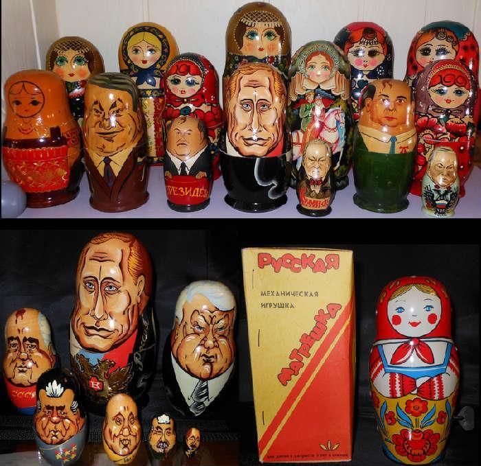Huge Selection of Matryoshka Dolls, even a wind up walking Matryoshka