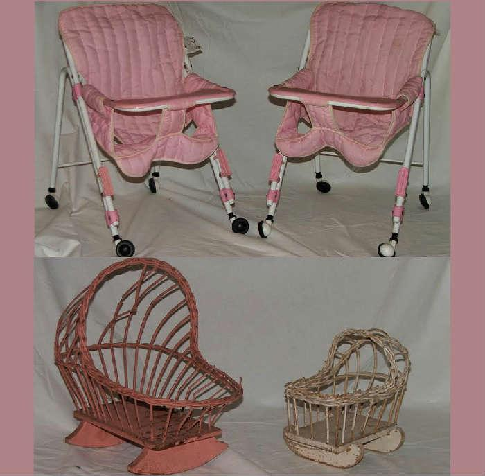 Sample of the Good Selection of Vintage Dolls Furniture