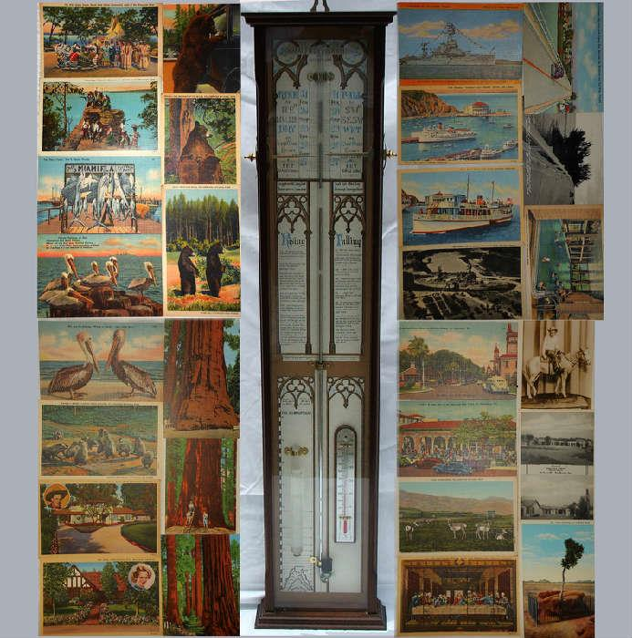 Sample of the large selection of Post Cards; many Antique and Very Nice Barometer