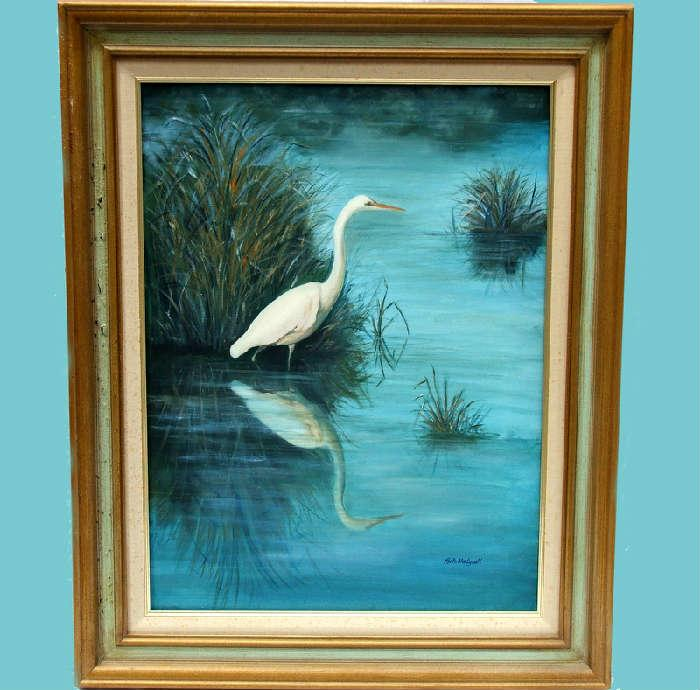 Very Pretty Signed Ruth Bodycott Oil Painting
