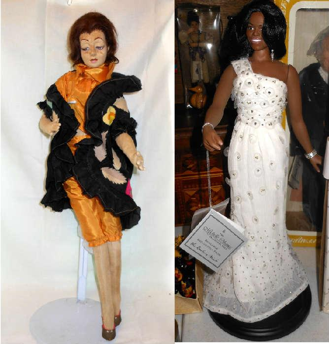 Dolls Dolls Dolls! Nice Boudoir Doll and Michelle Obama and we have the President too