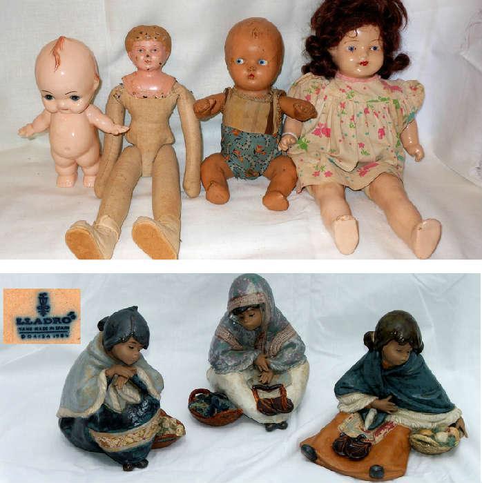 Old Dolls and Unusual Lladros