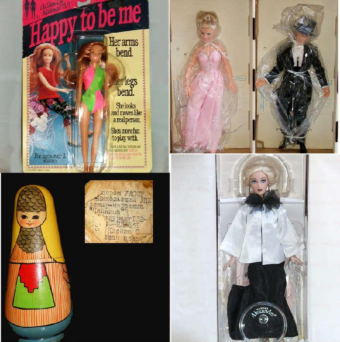 Old Matryoshka Dolls and other MIB Dolls including Fred Astaire and Ginger Rogers