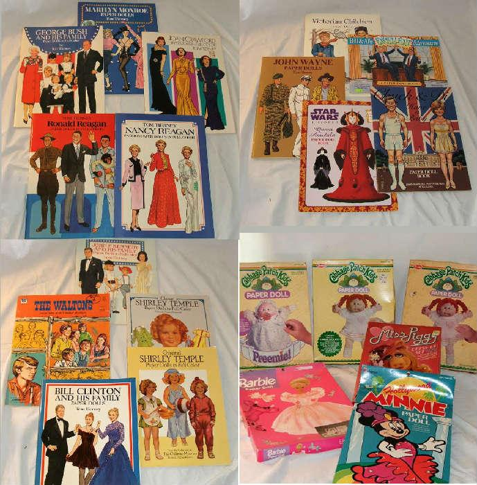 A small sample of the numerous paper dolls