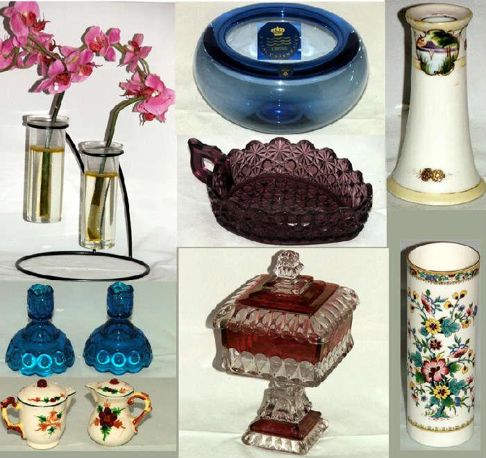 Nice Glass and Ceramics including Royal Copenhagen, Nippon, Ruby Flash and Amethyst