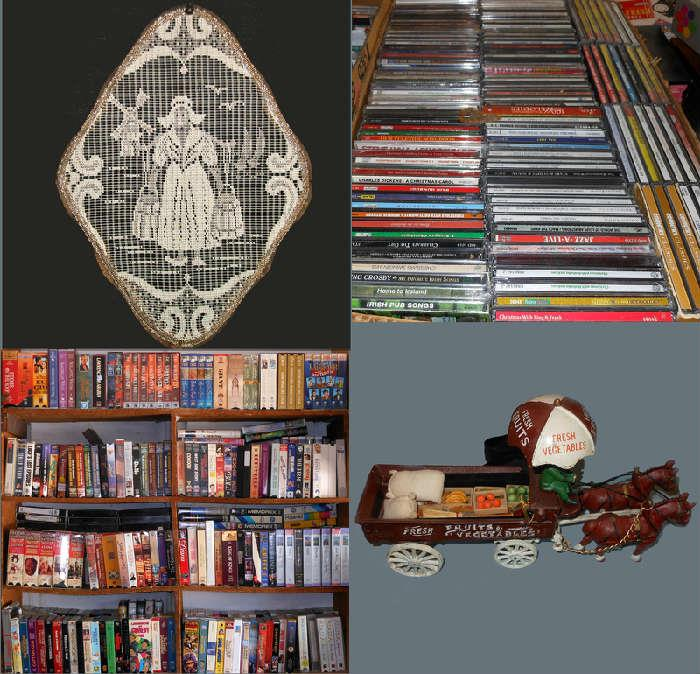 Loads of VCR Tapes and CDs