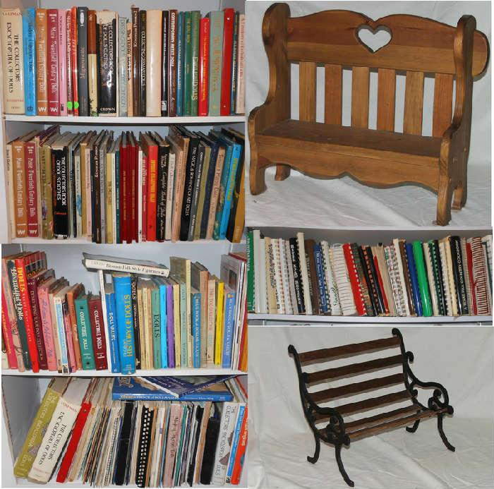 Small sample of the HUGE Selection of Books, Doll Books, Cook Books and Children's Books