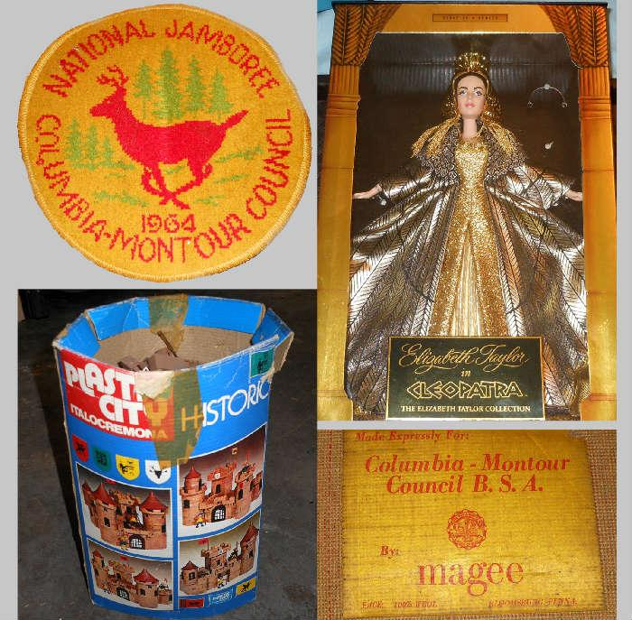 1964 Boy Scout Jamboree Mat, Toys and Cleopatra Doll